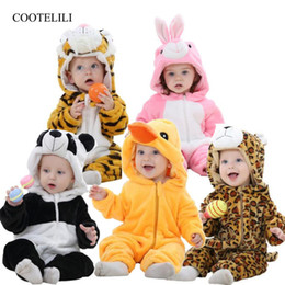 Infant Halloween Costumes Months NZ - Cootelili Newborn Baby Rompers Boys Girls Clothes Warm Fleece Winter Pajamas Infant Clothing Girls Autumn Halloween Costume J190524