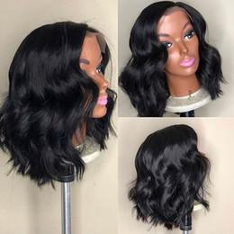 $enCountryForm.capitalKeyWord Australia - 100% Brazilian Virgin Hair Lace Front Wigs Gluelss Natural Wavy Short Full Lace Human Hair Wig Loose Wave Lace Frontal Human Hair
