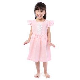 Опт Новорожденных девочек Одежда Платье Девушки Модная Одежда Платья Дизайны Розовый Белье Девушка Платье Оптом Бесплатная Доставка