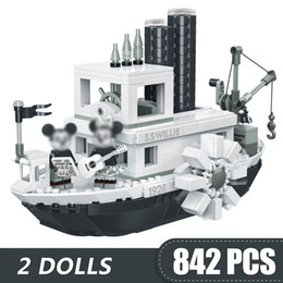 $enCountryForm.capitalKeyWord Australia - 842PCS Small Building Blocks Toys Compatible Legoe Steamboat Willie Gift for girls boys children DIY