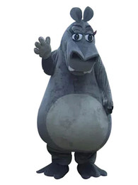 Christmas Movie Costumes UK - New Big Hippo Christmas Mascot Costumes Picture For Adults Halloween Outfit Fancy Dress Suit Free Shipping