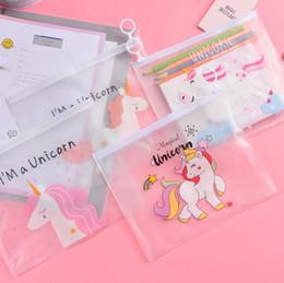 Pink Transparent Cosmetic Bag Australia - Cute Pink Leopard Unicorn Transparent Travel Cosmetic Bag Make Up Case Makeup File Bag Women Organizer Toiletry Storage Kit Box