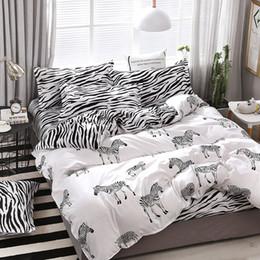 $enCountryForm.capitalKeyWord Australia - A7 New Zebra Pattern Bedding Set Bed Linings Duvet Cover Bed Sheet Pillowcases Cover Set For 1.2 1.5 1.8 2 2.2m