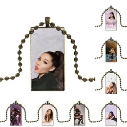 ar glasses Australia - Cat Ar Ariana Grande Top Detailed Popular For Wedding Glass Cabochon Choker Pendant Rectangle Necklace Bronze Color Jewelry