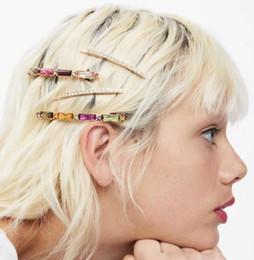 $enCountryForm.capitalKeyWord Australia - 4pcs set Fashion Diamond Hairpin side clip bang Shiny Crystal Rhinestones Hair Clips Hair Accessories for Women Girls