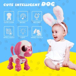 Discount pocket record - RC Robot RC Pocket Mini Dog Intelligent Touchable Blow Microphone Voice Record Laughing Barking Electric Puppy Toys for