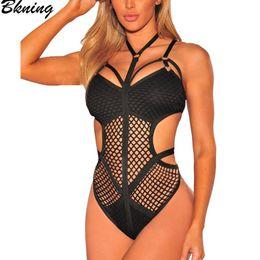 Sexy Mesh Monokini Swimwear Australia - 2019 One Piece Swimsuit Mesh Fishnet Cut Out Swimwear Swim Suit Black White May Swimsuits Swimming Suit For Women Sexy Monokini Y19051801