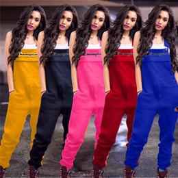 Campeones de primavera Letras de bordado Mono de las mujeres Pantalones de liguero casual Monos de moda Sin mangas Mameluco Brace Pantalones S-2xl A3202 Nuevo en venta