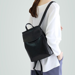luxury backpacks women NZ - luxury bag Women Casual Backpack Brand Designer Women Cowhide Backpack Natural true leather