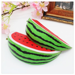 Cartoon Fruit Watermelon Australia - Cute Fruit Toy Squishies Watermelon Squishy Chains Slow Rising Squishies Adults Relieves Stress Anxiety Christmas Toys