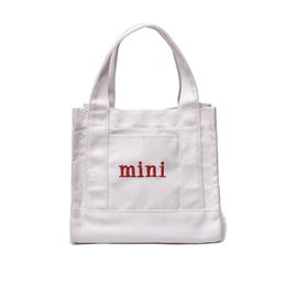 2778c3f58 English Alphabet Mini Package Ins Simplicity Canvas Shoulder Monogram Bag  Leisure Portable Wrap Pure Color Oblique Span ECO Friendly 15stb1