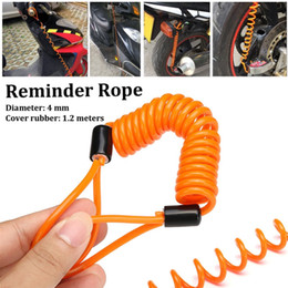 Disc Tools Australia - 4mm 1.2m Security Reminder Bike Motorbike Tool Cable Bicycle Lock Rope Helmet Wire Anti-theft Rope Motorcycle Scooter Disc Lock #644745