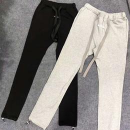 cotton pants fashion women 2019 - 2019 NEW Justin Bieber FEAR OF GOD Drawstring Pocket Women Men Joggers pants Hip Hop FOG Fashion Casual Sweatpants cheap