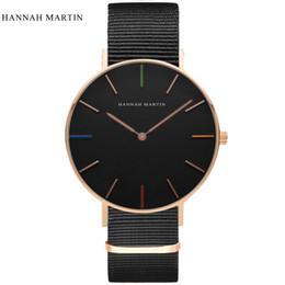 Watch Men Nylon Australia - Hannah Martin Designer Watch Men Womens Watches Fashion Casual Top Brand Luxury Watch Leather Nylon Clock Hour Relogio Masculino