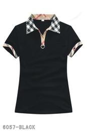 Chaude Classique Femmes Mode Angleterre Womens Designer Chemises D'été Marque T-Shirt Femmes Style Décontracté Tops T-shirt En Coton À Manches Courtes T-shirt en Solde