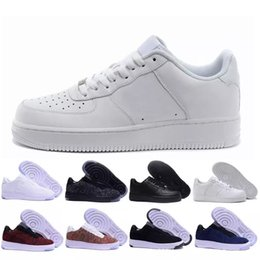 pretty nice a4e02 99394 nike air force 1 af1 Brand discount One 1 Dunk Hommes Femmes Chaussures de  course Sports Skateboarding Ones Chaussure High Low White White Black  Trainers ...