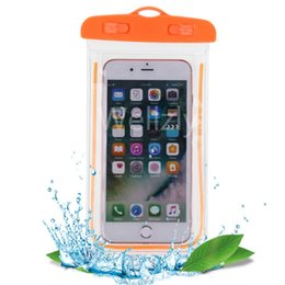 Swimming Pack Australia - Swimming Bags Xiaomi Waterproof Bag With Sealed Luminous Underwater Pouch Phone Case For Iphone X 8 Plus 7 7p 3.5-6inch C19041301