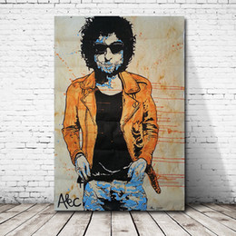 $enCountryForm.capitalKeyWord Australia - Bob Dylan Portrait Alec Monopoly Wall Art Canvas Poster And Print Canvas Painting Decorative Picture For Living Room Home Decor