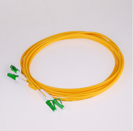 fiber apc NZ - 5PCS LC  APC to LC  APC fiber patch cord duplex single mode 3.0mm G652D jacket cable optical fibre jumper
