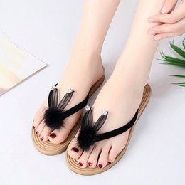 women cartoon flip flop NZ - Sandels Flip Flop Leather Women Flat Sandals Ladies Shoes Cute Cartoon Flip Flops Slippers Beach Sandals Shoes Mokasyny Damskie