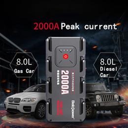 $enCountryForm.capitalKeyWord Australia - 2000A Peak Car Jump Starter Pack Portable LED Power Bank Car Boat Auto Cars Battery Supply Phone Power Clamps For 12V