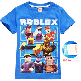 accec7ad Roblox Game T-shirts Boys Girl Clothing Kids Summer 3D Funny Print Tshirts  Costume Children Short Sleeve Clothes For Baby