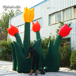 $enCountryForm.capitalKeyWord Australia - Large Advertising Inflatable Tulip Flower Bouquet 4m Height Multicolor Simulated Flower Sculpture For Theme Park And Festival Decoration