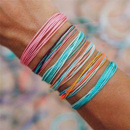 teen bracelets 2019 - Handmade Wrap Friendship Braided Bracelet for Women Teen Girls Colorful Wrist Cord Adjustable Birthday Gifts-Party Favor