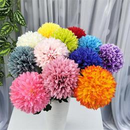 "$enCountryForm.capitalKeyWord Australia - Silk Dandelion Artificial Dandelion Chrysanthemum Ball flower head 4.33"" for Wedding Centepieces Bridal Bouquet Wrist Flower 12 colors"