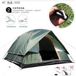 Three Season Tents Australia - Three Person 200*200*130cm Double Layer Weather Resistant Outdoor Camping Tent for Fishing, Hunting Adventure and Family Party