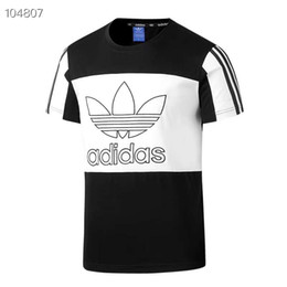 ae67d4c82 New Design Brand T Shirt Mens Summer Short Sleeve T Shirts Emboridered  Crewneck Casual Tops 4 Colors Plus Size 5XL