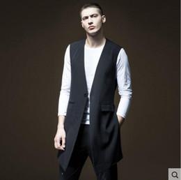 Long Hair Vest Australia - 2019 New men clothing Hair Stylist GD Fashion Medium and long suit waistcoat Vest plus size stage Singer costumes XS-6XL