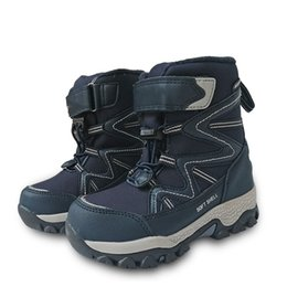 waterproof snow boots boys Australia - Fashion 1pair Wool Boot waterproof Ski Children Snow Boots Winter warm Boots , -40 or -30 degrees Kids Girl Boy Shoes