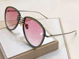 Chinese  stephane christian 1196 pilot sunglasses with stones Glasses green pink shaded Designer Sunglasses glasses New with box manufacturers