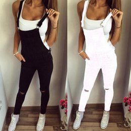 e30fe4a32f1 New High Quality Fashion Women Loose Trousers Jumpsuit Jeans Denim Bib Hole Pants  Overalls  Y  558187