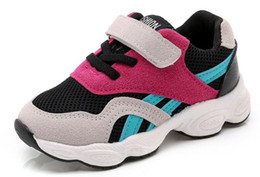 Spring Fall Canvas Shoes Australia - Children Shoes 2019 fall Fashion Footwear Baby Toddler Breathable Net Girls Boys Sport Shoe Non-slip Kids Sneakers