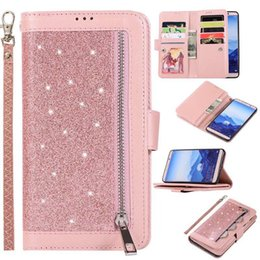 $enCountryForm.capitalKeyWord Australia - For Samsung J2 J3 J4 J5 J6 J7 J8 A8 Core Prime Pro Plus 2018 Card Pocket Covenient Design Flash Zipper Leather Case With Hand Chain