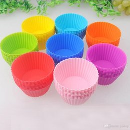 $enCountryForm.capitalKeyWord Australia - Hot Sale Round Shaped 7CM Silicone Muffin Cupcake Mould Bakeware Maker Mold Tray Baking Cup Liner Baking Molds Kitchen Accessories