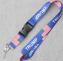 united phones Australia - USA 2020 Trump Phone Lanyard Flag of the United States Phone Rope Camera Strap Strap Key Chain ID Card Hanging Lanyard With Removable Buckle