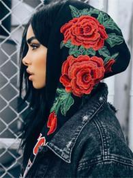 $enCountryForm.capitalKeyWord NZ - New Fashion Womens Long Sleeve Hoodies Autumn Spring Casual Sweatshirt Floral Pullover Tops Hoodies Casual Street Wear