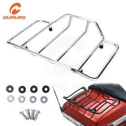 luggage trunks NZ - OUMURS Motorcycle Tour Pak Carrier Top Trunk Luggage Rack Tail Case For Touring Road King Electra Street Glide 1984-2019