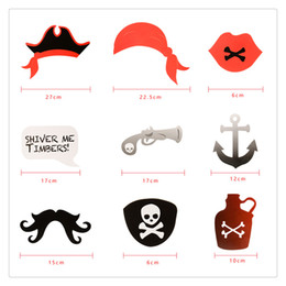 $enCountryForm.capitalKeyWord UK - 22 Pieces Photo Booth Props DIY Photo Kit with Wood Sticks Pirate Paper Pros for Children Birthday and Graduation Party