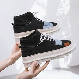 korean rubber shoes trends UK - Top Autumn and winter new women's boots Korean casual students women's shoes trend thick bottom plus velvet warm Martin boots women