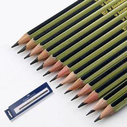 faber pencils 2019 - Pencils Faber-castell 14 Pcs lot Pencil Sketch Drawing Art Painting Pen Include H-2h-3h-4h-5h-hb-b-2b-3b-4b-5b-6b-7b-8b