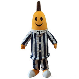 Custom Made Costume Movie UK - 2019 newFactory sale hot Bananas In Pyjamas Mascot Costumes Banana costumes for Halloween party event