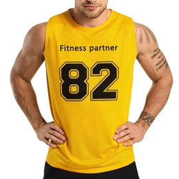 Muscle vests online shopping - 2019 Gyms Workout Sleeveless Shirt Tank Top Men Bodybuilding Clothing Fitness Mens Sportwear Vests Muscle Men Tank Tops