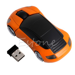 China 2.4G 1600DPI Mouse USB Receiver Wireless LED Light Car Shape Optical Mice supplier usb mice car suppliers