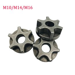 sprocket chains 2019 - M10 M14 M16 Sprocket Chain Saw Gear for 100 115 125 150 180 Angle Grinder Replacement Gear Chainsaw Bracket Power Tool c