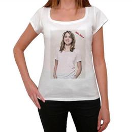 Kimonos for women online shopping - Graphic Tops Print Adele Haenel Short O Neck Tee For Women