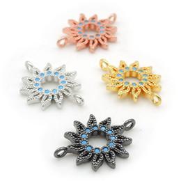 $enCountryForm.capitalKeyWord Australia - 18*14*2mm Micro Pave Kallaite CZ Sun Charm Connectors Fit For Men And Women Making Bracelets Jewelry